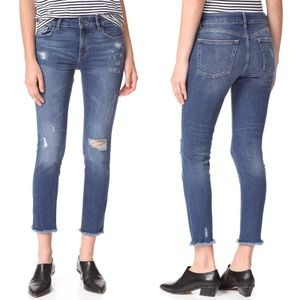 DL1961 Florence Distressed Crop Jeans Uptown 31